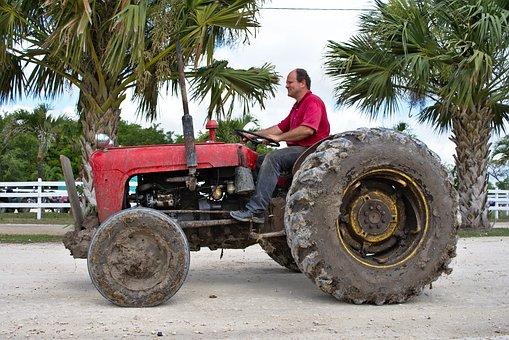 Tractor, Old, Farmer, Rural, Dirty, Farm Equipment