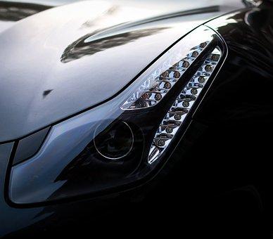 Ferrari Ff, Ferrari, Ff, Grey, Car, Lights, Vehicle