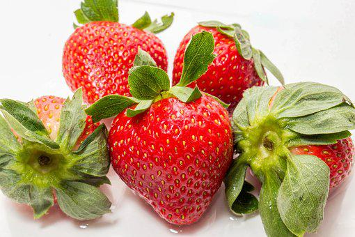 Strawberry, Healthy, Fruit, Food, Leaf