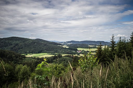 View, Panorama, Nature, Landscape, Clouds, Forest