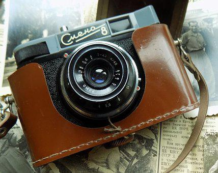Camera, Change 8, Cover, Lens, Old, Retro