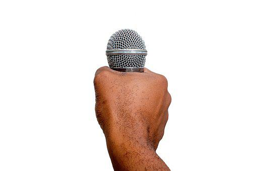 Isolated, Karaoke, Microphone, Man, Hand