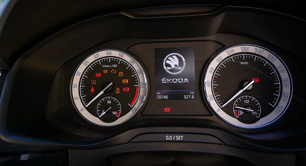 Dashboard, Car, Speedometer, Odometer, Dial, Control