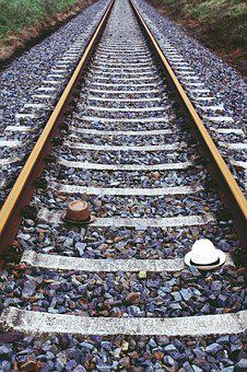 Railway Line, Railway, Train, Straw Hat