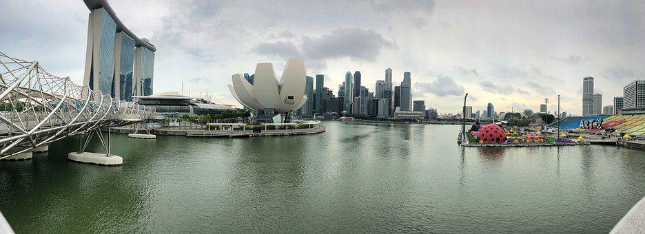 Singapore, Bay, Panorama, Waters, River, City