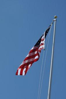 Wind, Sky, Flag, Pole