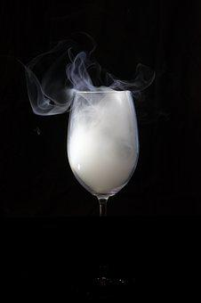 Drink, Glass, Background, Darkness, Bar, Smoke