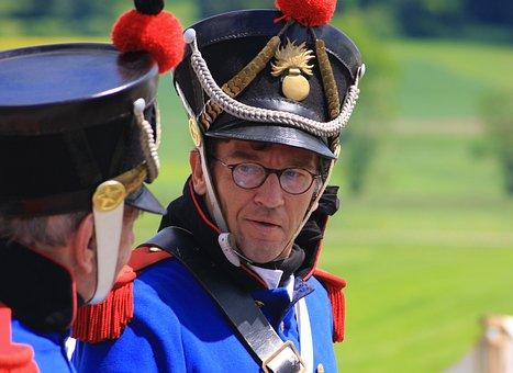 Man, Uniform, Helm