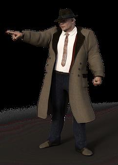 Man, Coat, Al Capone, Suit, Muscular, Clothing