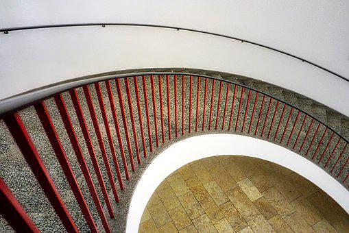 Architecture, Level, Within, Arch, Stairs, Railing