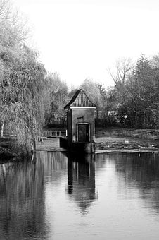 Waters, River, Black And White Photography, Reflection