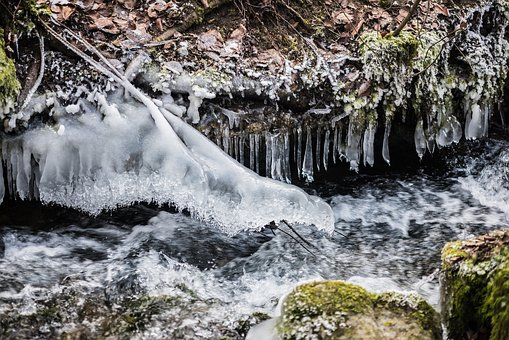 Waters, Nature, Waterfall, River, Rock, Landscape, Cold