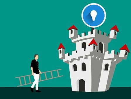 Idea, Creative, Innovation, Reach, Ladder, Success