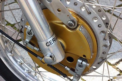 Motorcycle, Racing, Vintage, Drum Brake, Brake, Front
