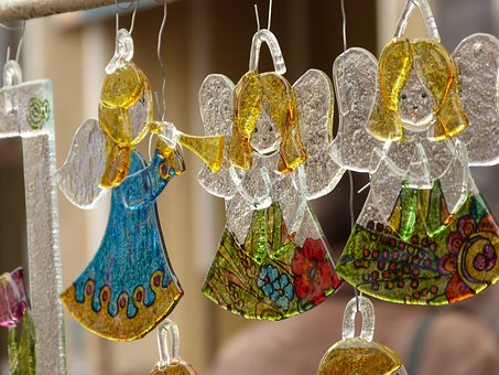 Hanging, The Ceremony, Gold, Angel, Glossy, Ornament