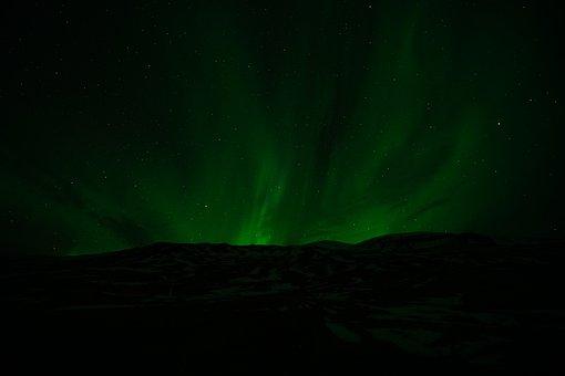 Northern Lights, Aurora, Light, Green, Sky