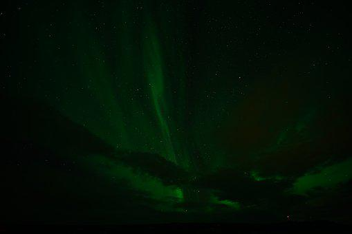 Northern Lights, Aurora, Light, Green, Sky, Night Sky