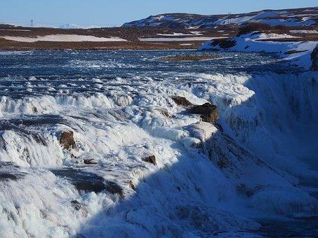 Gullfoss, Waterfall, River, Hvítá, Haukadalur, Iceland