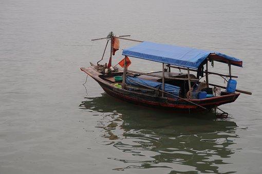 Vietnam, Hue, Junk Boat, Boat