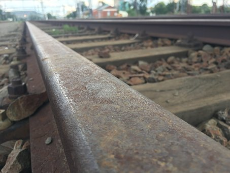 Industry, Railroad Track, Transportation System, Nature