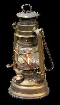 Kerosene Lamp, Isolated, Light, Camping, Lantern, Lamp