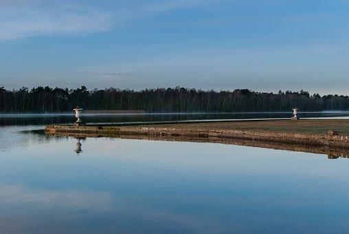 Body Of Water, Lake, Reflection, Dawn, Nature