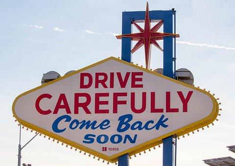 Las Vegas, Sign, Road, Signpost, Direction, Guidance