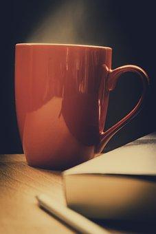 Drink, Cup, Mug, Coffee, Dawn, Tea, Hot, Table, Book