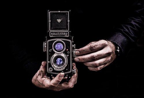 Camera, Photography, Portrait, Film, Negative, Vintage