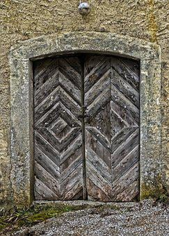 Door, Portal, Archway, Historically, Old, Wooden Gate