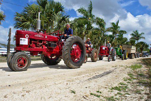 Parade, Antiques, Tractors, Vintage, Old, History, Show