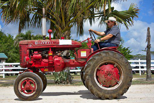 Tractor, Old, Vintage, Farmer, Machinery, Equipment