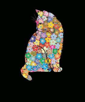 Florist, Florist Ca, Flower Cat, Cat, Red Cat, Pink Cat