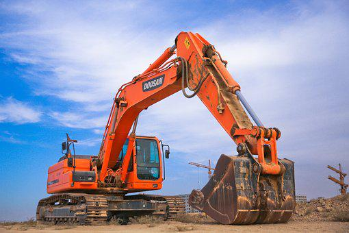 Industry, Heavy, Machine, Scoop, Power Shovel