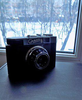 Camera, Old, Soviet, The Ussr, No One, Retro, Lens