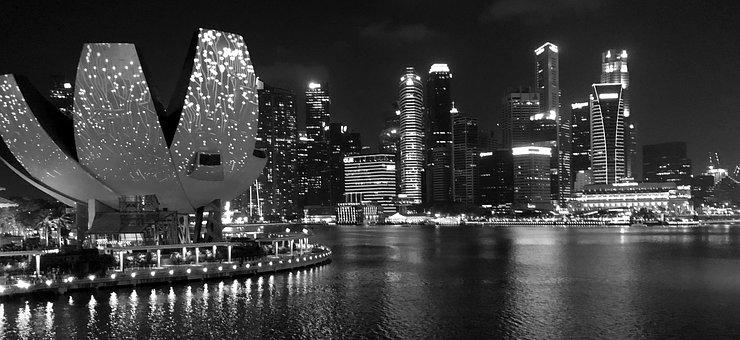 Singapore, Skyline, City, Urban Landscape