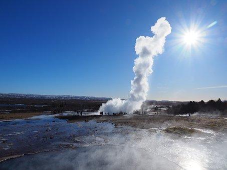 Geyser, Strokkur, Geyser Strokkur, Water Fountain