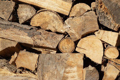 Firewood, Wood, Stump, A Pile Of Wood