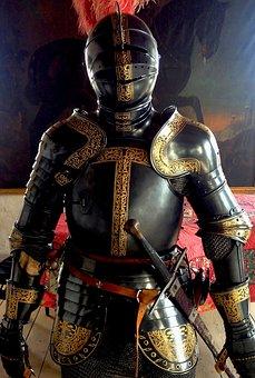 Armor, Sword, Combat Helmet, Warrior, Weapons, Shield