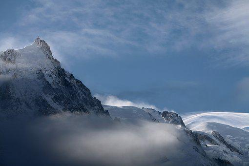 Snow, Mountain, Winter, Aiguille Du Midi