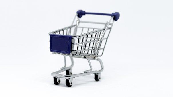 Cart, Supermarket, Tram, Basket, Isolated, Economy