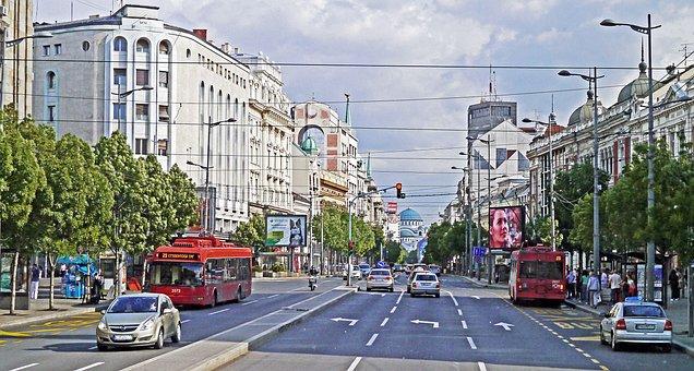 Belgrade, Main Thoroughfare, Dom, Dome, Hl, Sava