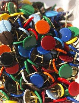 Nails, Colorful, Color, Packaging, Blister, Thumbtack