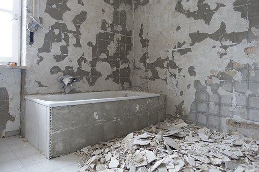 Bad, Renovation, Wall, House, Concrete, Room