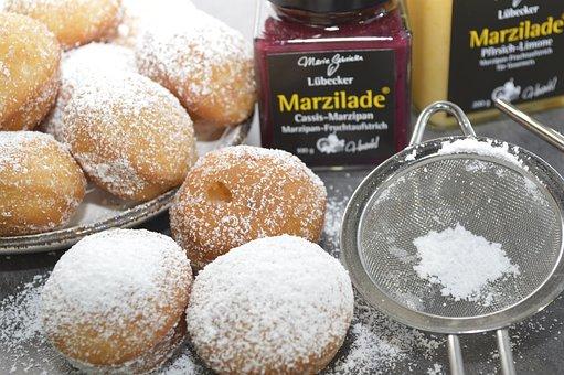 Sugar, Food, Berlin, Fat Fried, Donut, Marzilade