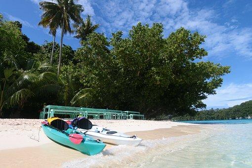 Summer, Tropical, Tree, Ease, Sand, Kayak, Abeneteuer