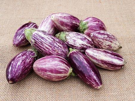 Vegetables, Eggplant, Mediterranean, Purple, Cook