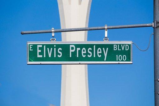 Elvis Presley, Road, Guidance, Signpost, Direction