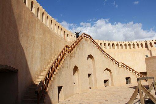 Nizwa Fort, Fort, Oman, Travel, Architecture, Sky