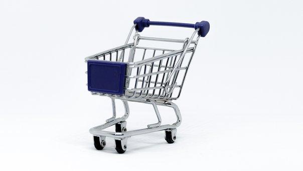 Cart, Tram, Isolated, Shopping, Supermarket